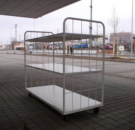 vozík pro zavážení balíků