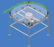elektricky poháněný otočný akumulační odebírací stůl na konci plnící linky