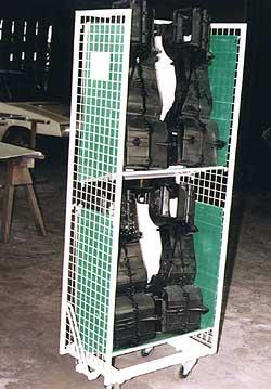 dvouprostorový vozík s výrobky